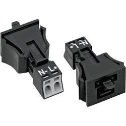 Mrežni konektor, utič, ravan, br. polova: 2 16 A crni WAGO 890-712 1 kom.