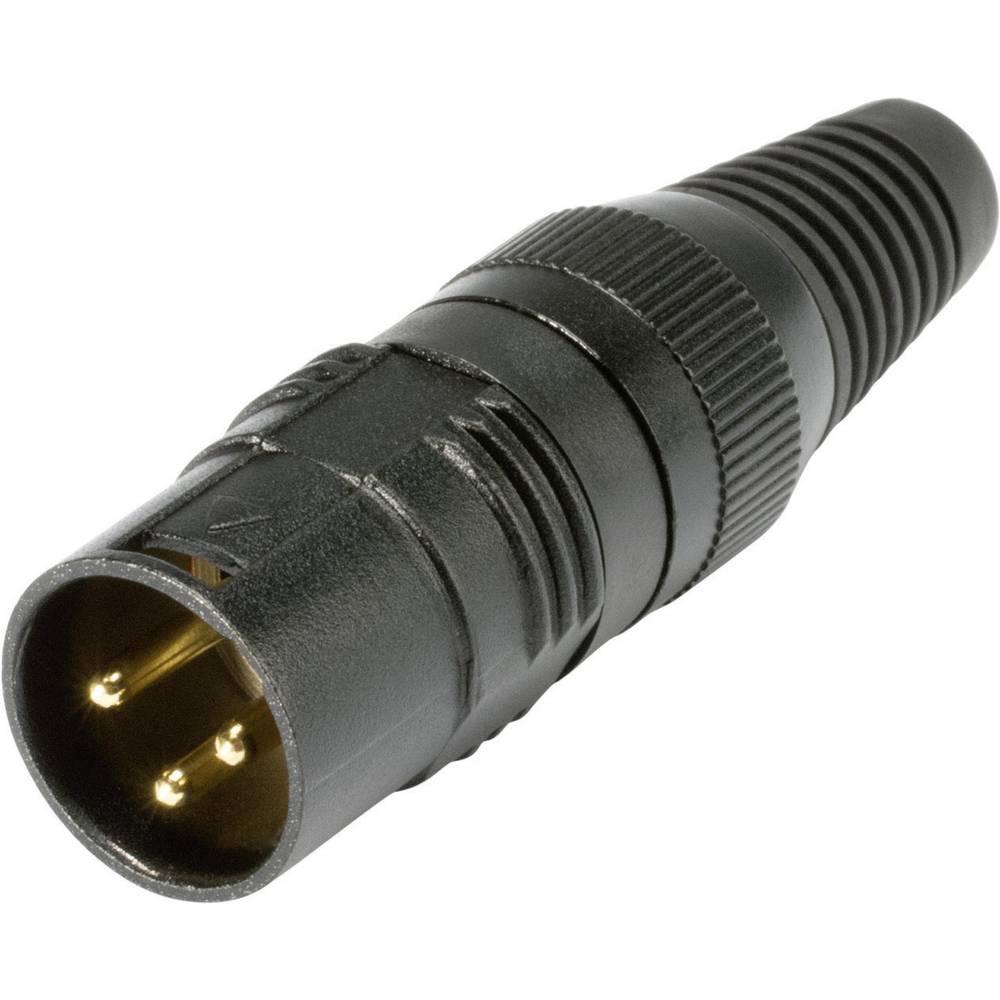 XLR-Vtični konektor, kovinskoohišje s kovinskim koncem, št.polov: 3 HI-X3CM-G Hicon..