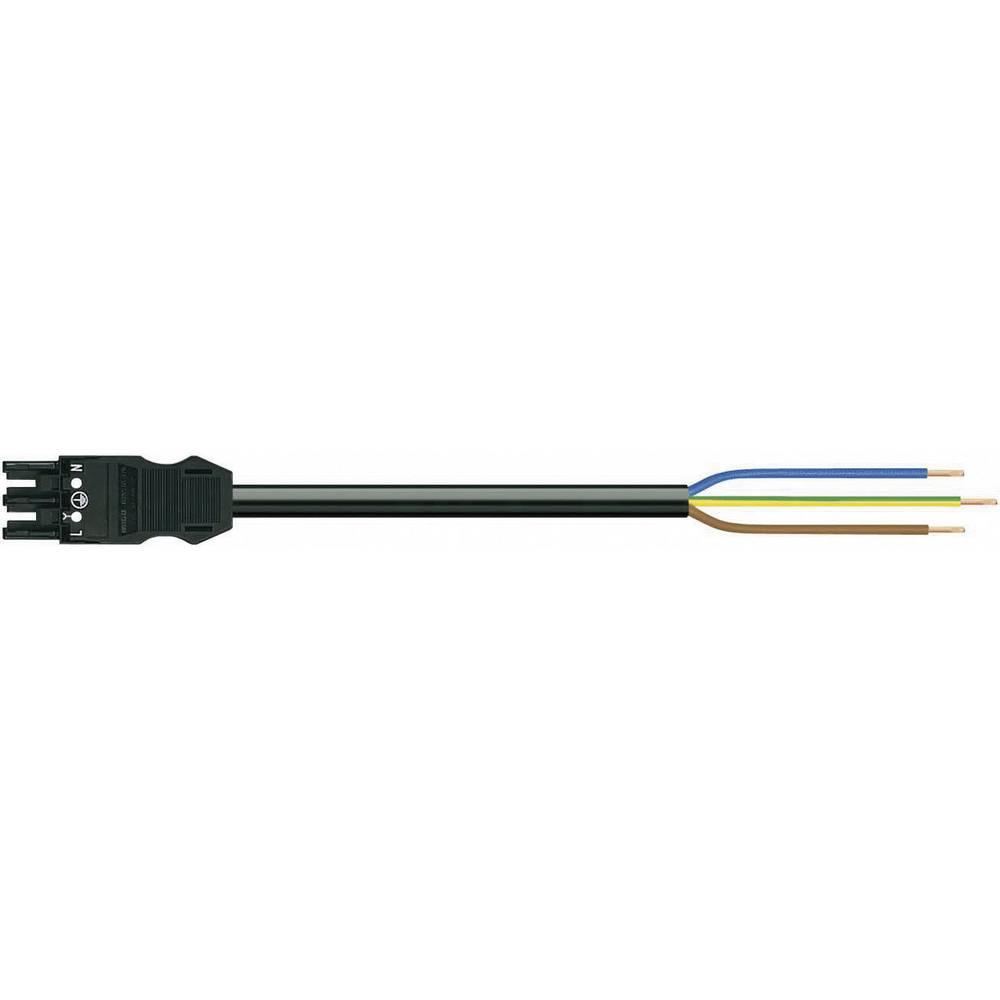 Strømforsyningstilslutningskabel WAGO 771-9993/206-101 Samlet poltal 2 + PE Sort 1 m 1 stk