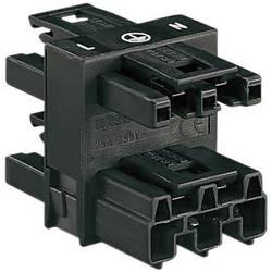 Strømforsyningsfordeler WAGO 770-607 Samlet poltal 2 + PE Sort 1 stk