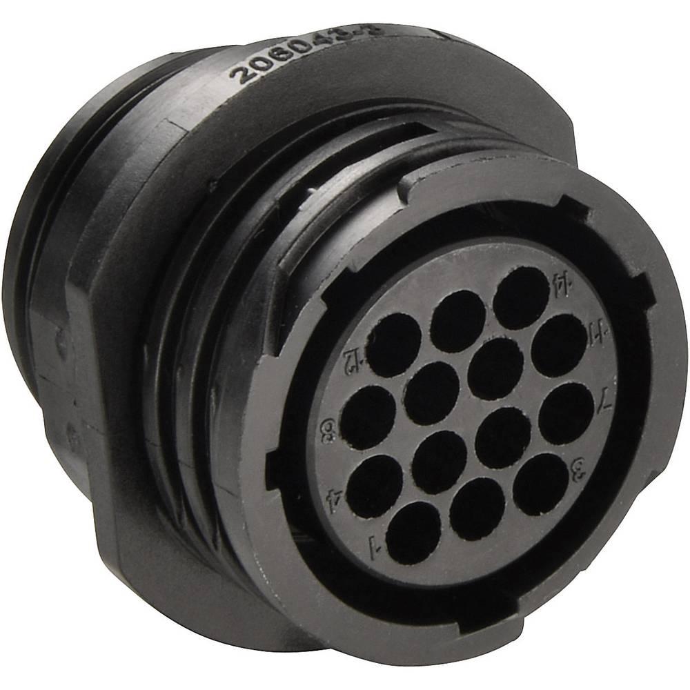 CPC - Vklj. ohišje za vtični konektor, prosto viseče, št. polov: 37, 206306-02, TE Connect TE Connectivity