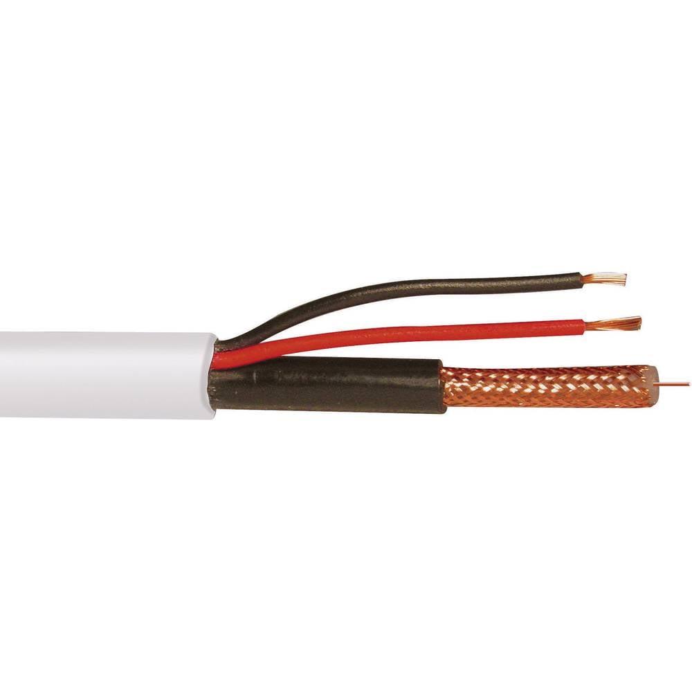 Kombinirani kabeli za video 2x 0.75 mm2 bijela ABUS