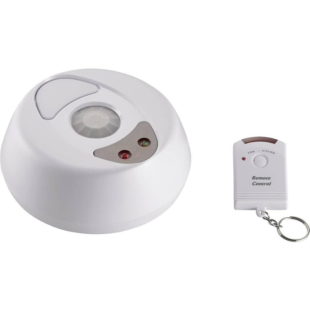 Stropni alarm z daljinskim upravljalnikom 100dB, kot zaznavanja 360 ° širina zaznavanja 6 m 751041 Conrad