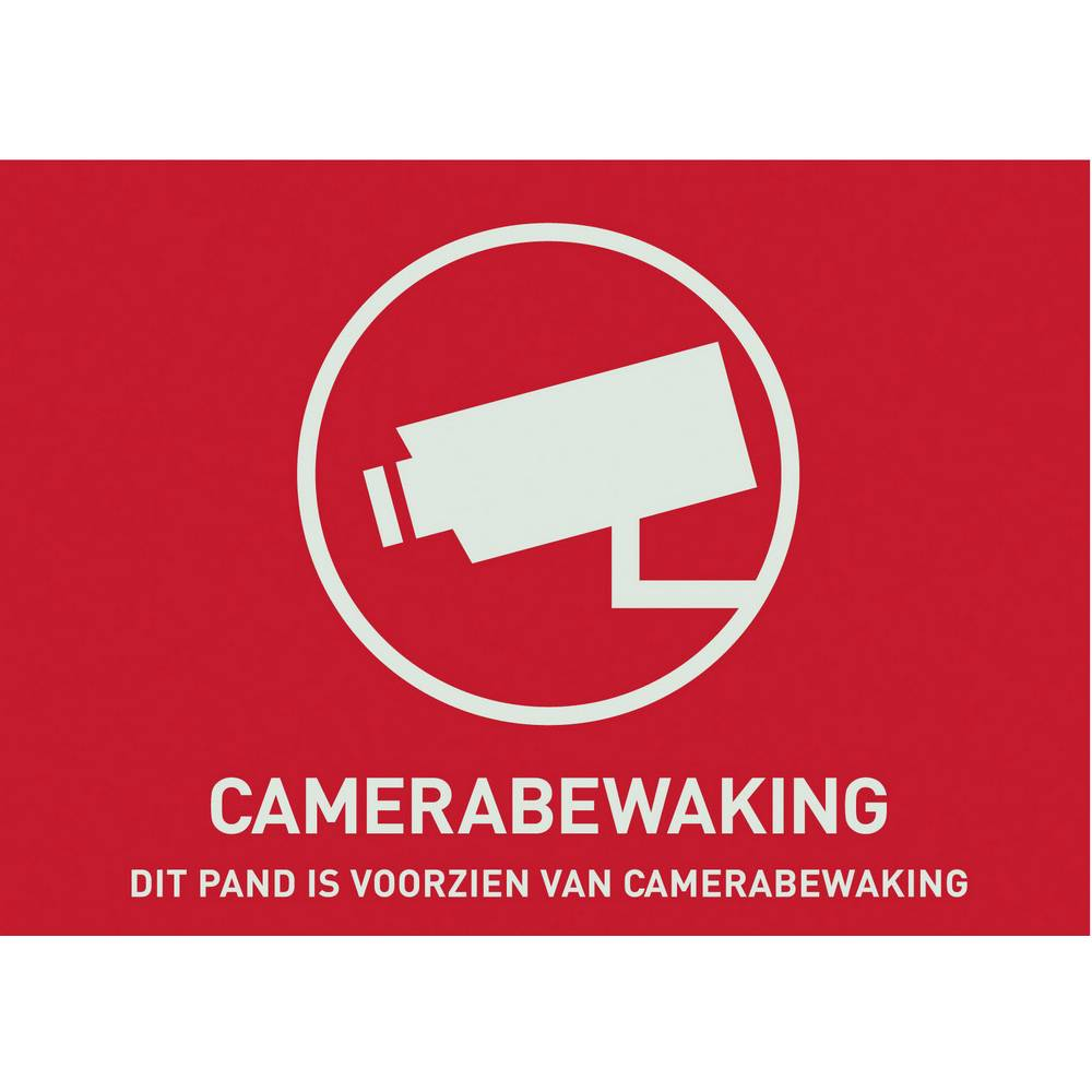 Opozorilna nalepka Video nadzor Jeziki Nizozemski (Š x V) 74 mm x 53 mm ABUS AU1305