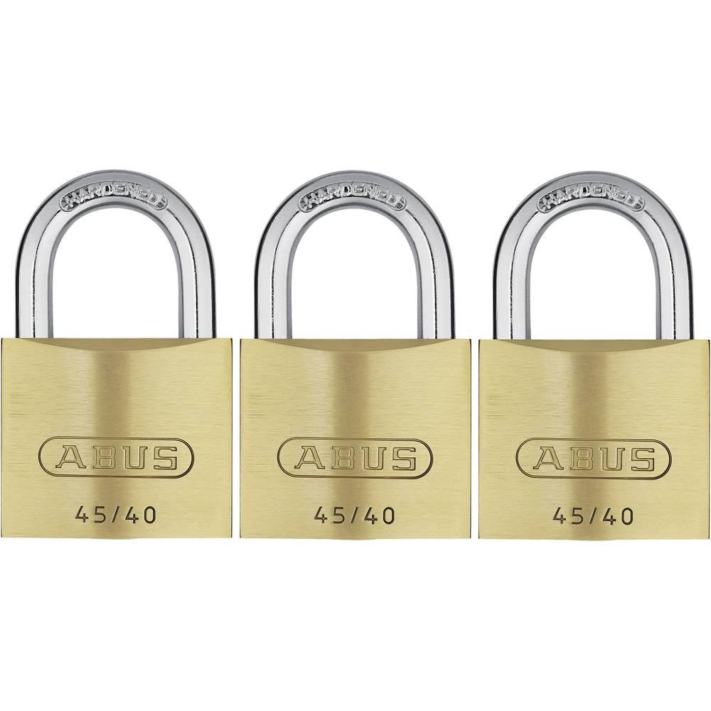 Ključavnica obešanka 3-delni komplet ABUS ABVS11825 zaklepanje s ključem