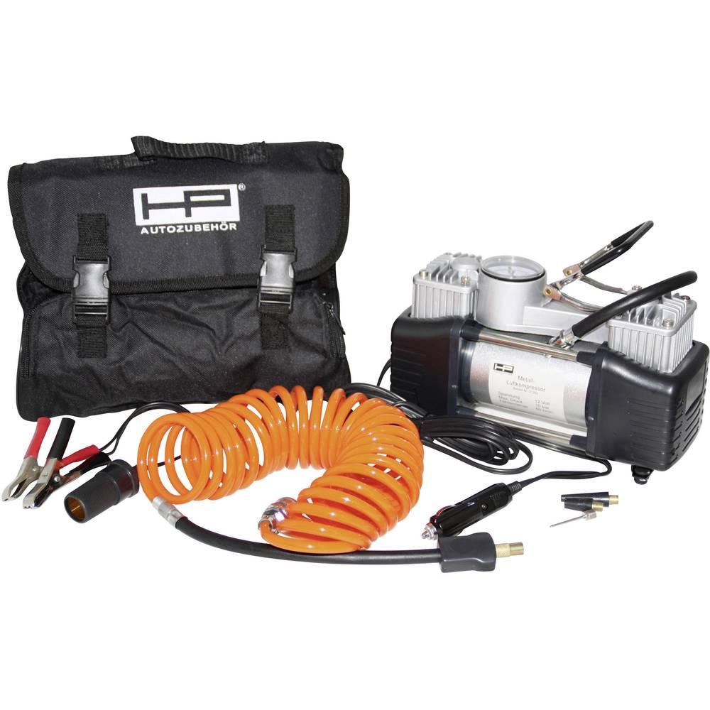Kompressor 7 bar HP Autozubehör 21262 2 cylindre , Analog trykmåler, Opbevaringskasse/-taske