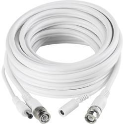 sygonix Produžni kabel za nadzorne kamere, kombinirani videokabel bijeli, 40 m 43127X izvedba: 1x BNC, 1x DC IN   1x BNC, 1x D