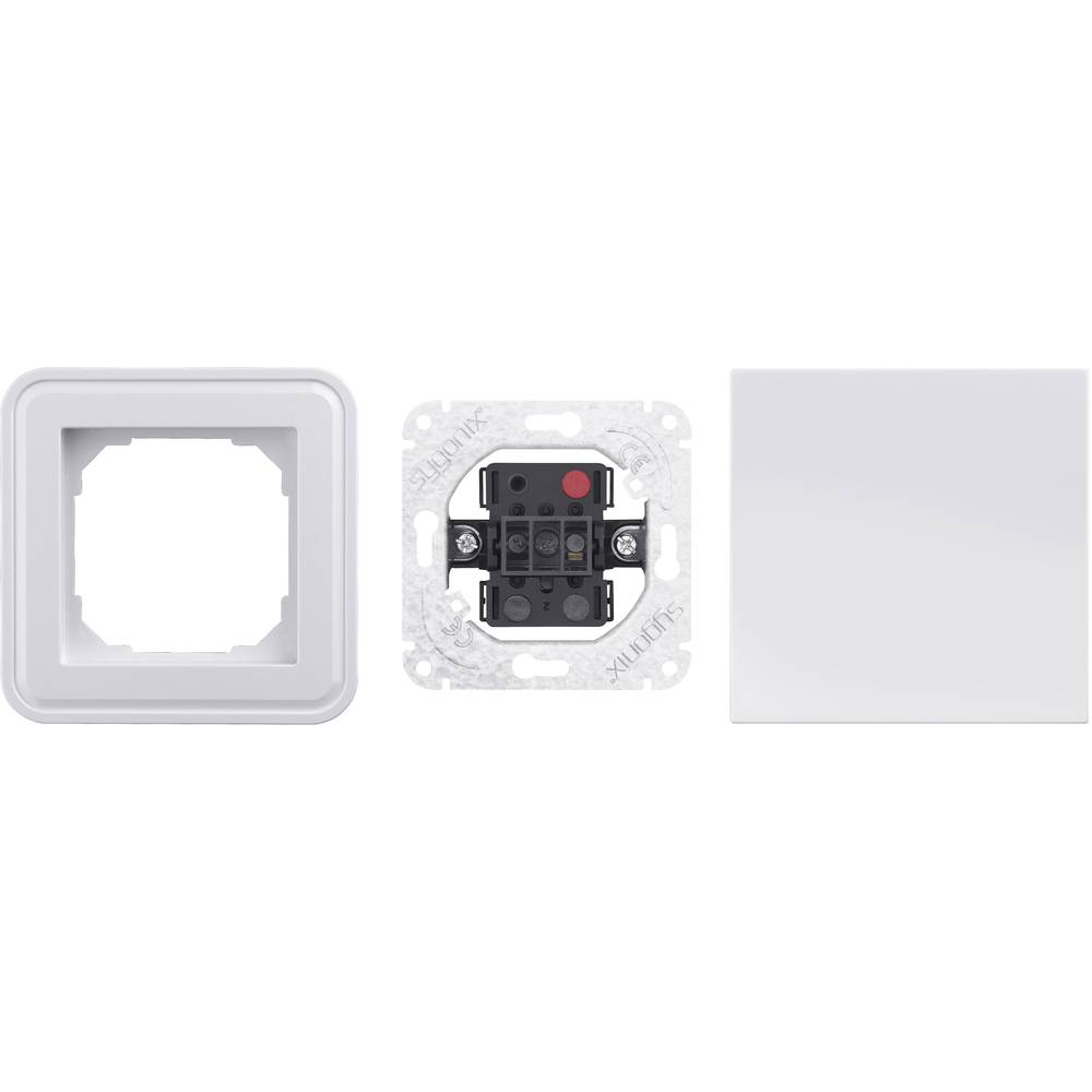 Sygonix vložek, izmenično stikalo SX.11 svetleče bele barve, 33594S + 33592C + 33598R