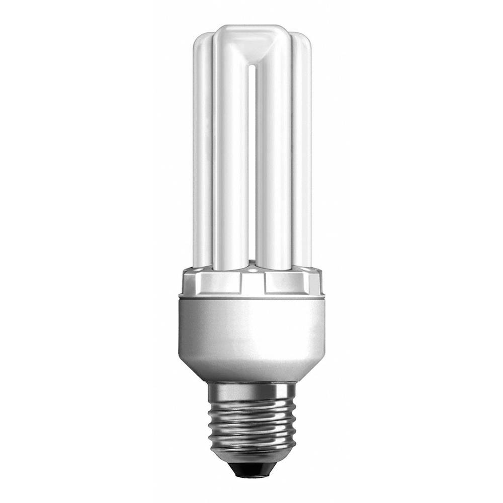Lågenergilampa 140 mm OSRAM 230 V E27 18 W = 64 W Neutralvit EEK: A Stavform 1 st