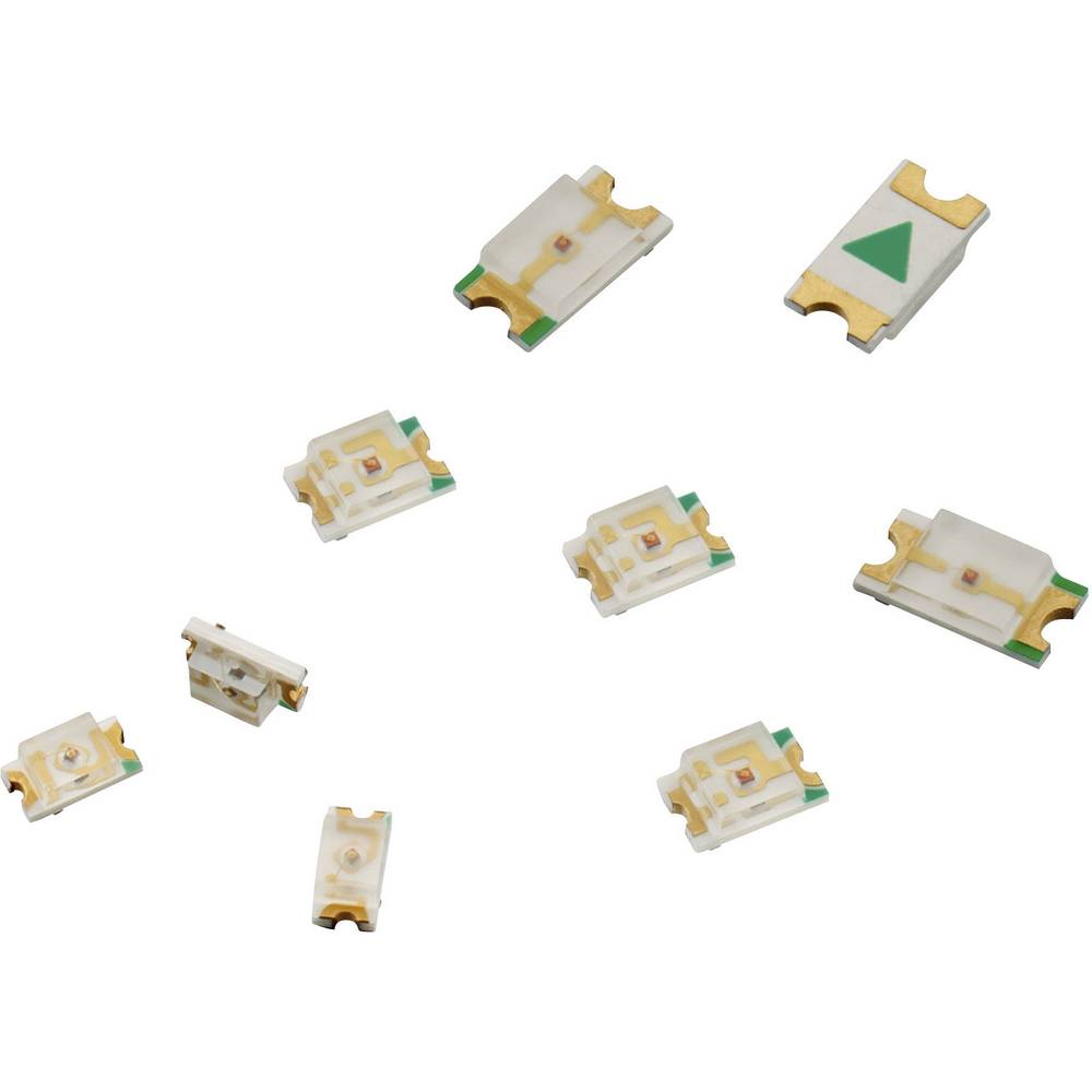 SMD-LED 1206 svijetlo zelena 40 mcd 140 ° 30 mA 2 V Würth Elektronik 150120VS75000