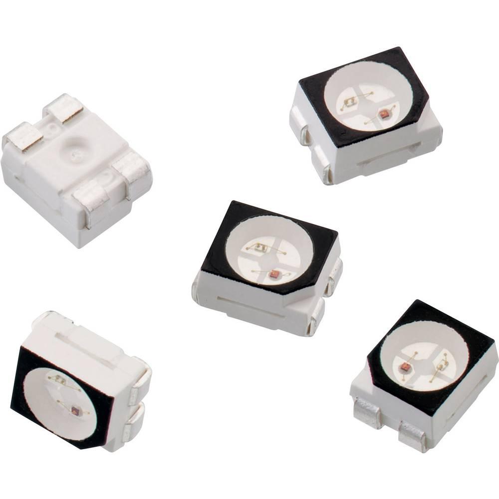 SMD-LED višebojna 3528 crvena, svijetlo zelena 250 mcd, 60 mcd 120 ° 30 mA 2 V, 2 V Würth Elektronik 150141RV73100