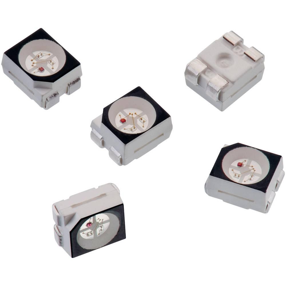 SMD-LED višebojna, crvena, zelena, plava 270 mcd, 950 mcd, 230 mcd 120 ° 30 mA 2 V, 3.2 V, 3.2 V Würth Elektronik 150141M173100