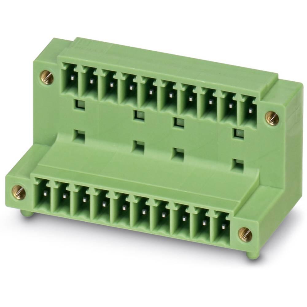 Stiftkabinet-printplade MCD (value.1361122) Samlet antal poler 12 Phoenix Contact 1830208 Rastermål: 3.81 mm 50 stk