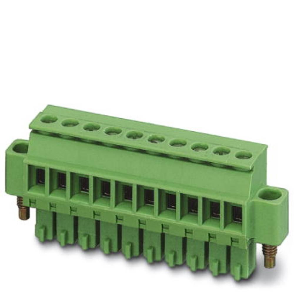 Tilslutningskabinet-kabel MCVR (value.1360762) Samlet antal poler 10 Phoenix Contact 1828427 Rastermål: 3.81 mm 50 stk