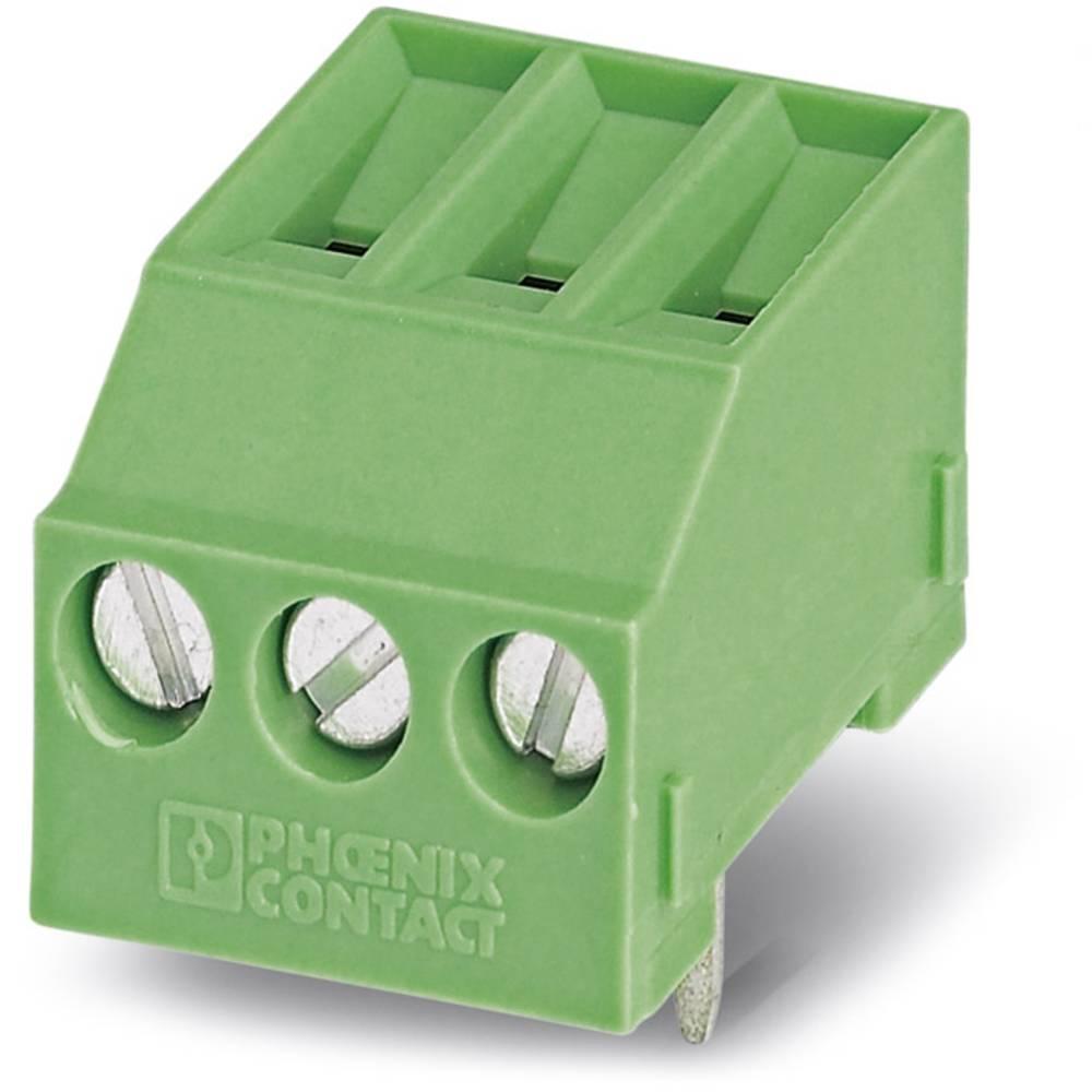 Skrueklemmeblok Phoenix Contact MKDSFW 3/ 3 2.50 mm² Poltal 3 Grøn 50 stk