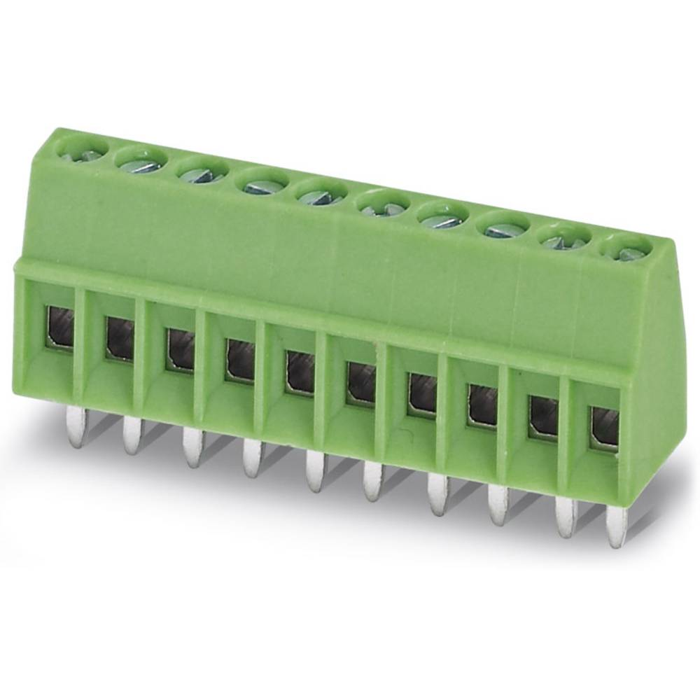 Skrueklemmeblok Phoenix Contact MPT 0,5/ 4-2,54 0.50 mm² Poltal 4 Grøn 250 stk