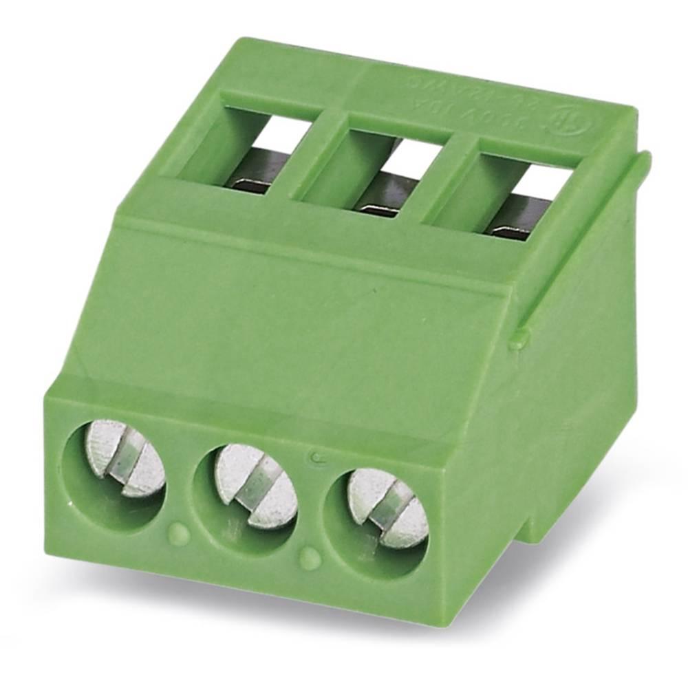 Skrueklemmeblok Phoenix Contact MKDSF 3/ 3 2.50 mm² Poltal 3 Grøn 50 stk