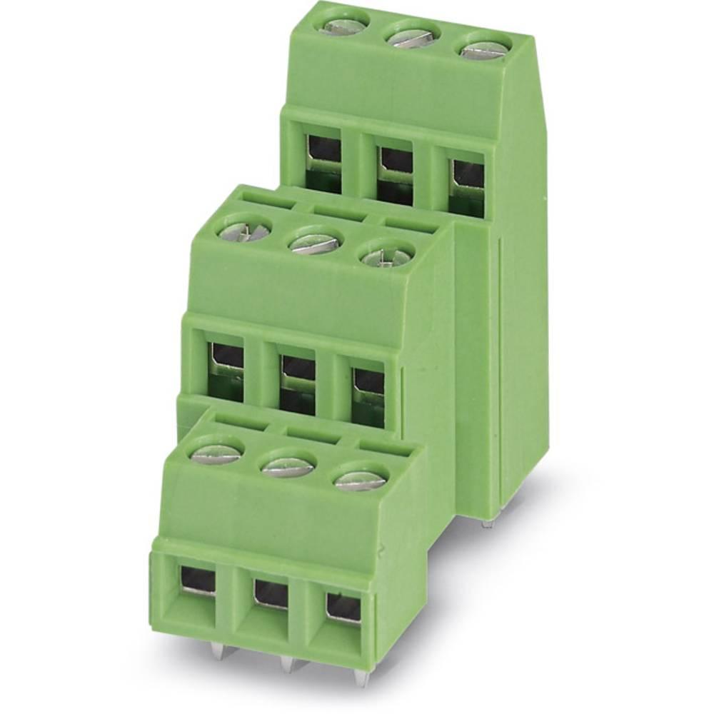 Tre-etagesklemme Phoenix Contact MK3DSN 1,5/ 3-5,08 1.50 mm² Poltal 9 Grøn 100 stk