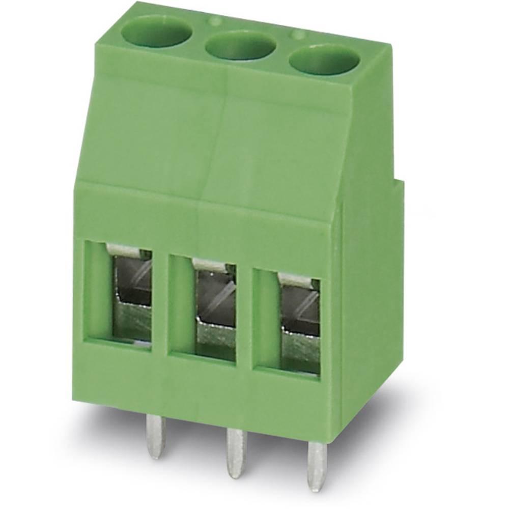 Skrueklemmeblok Phoenix Contact MKDSP 3/ 3-5,08 2.50 mm² Poltal 3 Grøn 50 stk