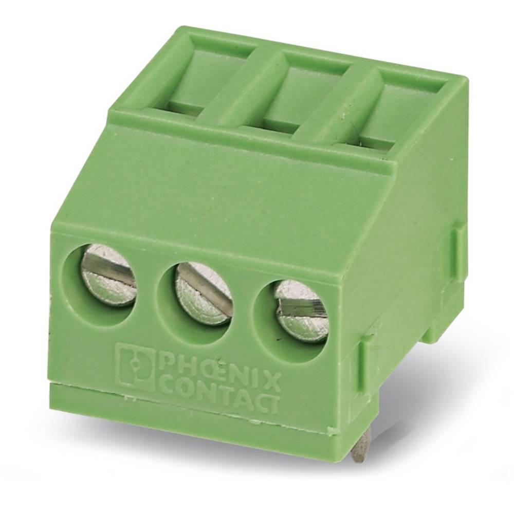 Skrueklemmeblok Phoenix Contact MKDSFW 1,5/ 3 1.50 mm² Poltal 3 Grøn 50 stk