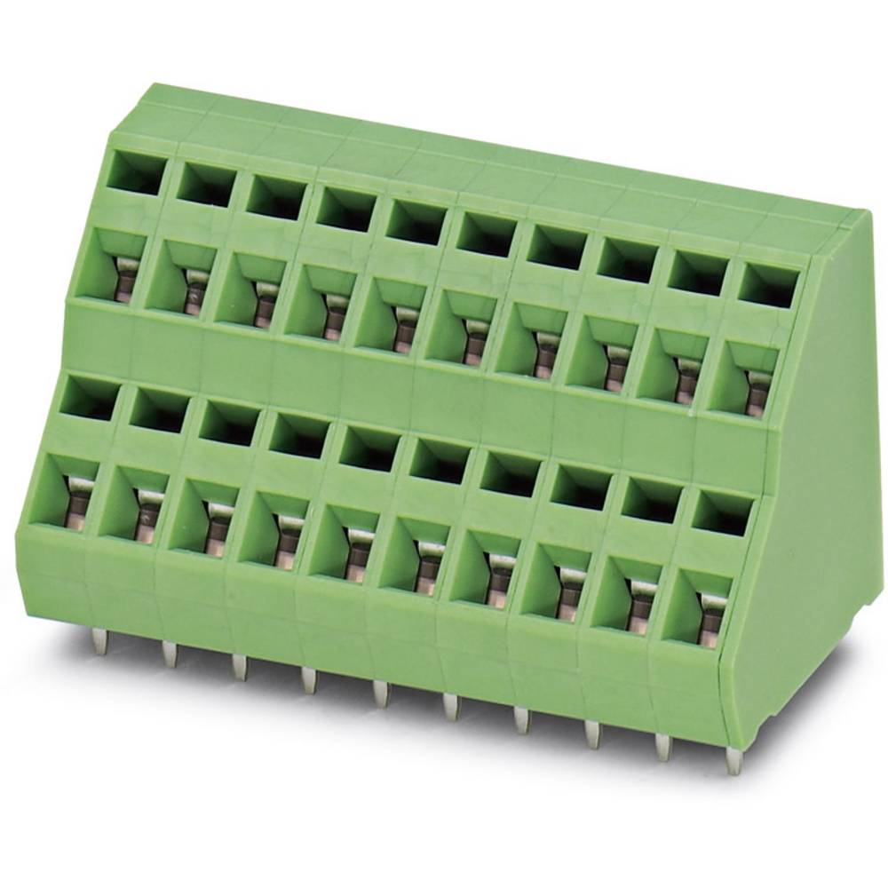 Dobbeltrækkeklemme Phoenix Contact ZFKKDS 1,5-5,08 1.50 mm² Poltal 2 Grøn 100 stk