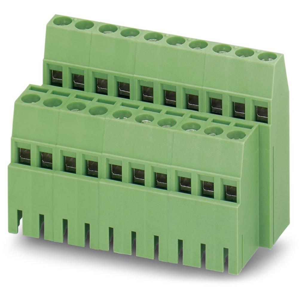 Dobbeltrækkeklemme Phoenix Contact MK3DS 1,5/ 2-5,08-BC 1.50 mm² Poltal 4 Grøn 50 stk