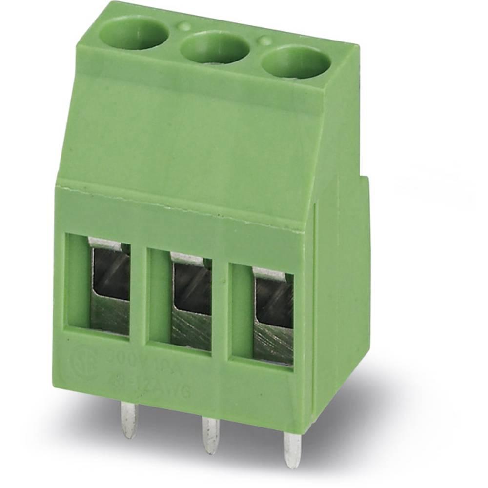 Skrueklemmeblok Phoenix Contact MKDS 3/ 2-B-5,08 2.50 mm² Poltal 2 Grøn 50 stk