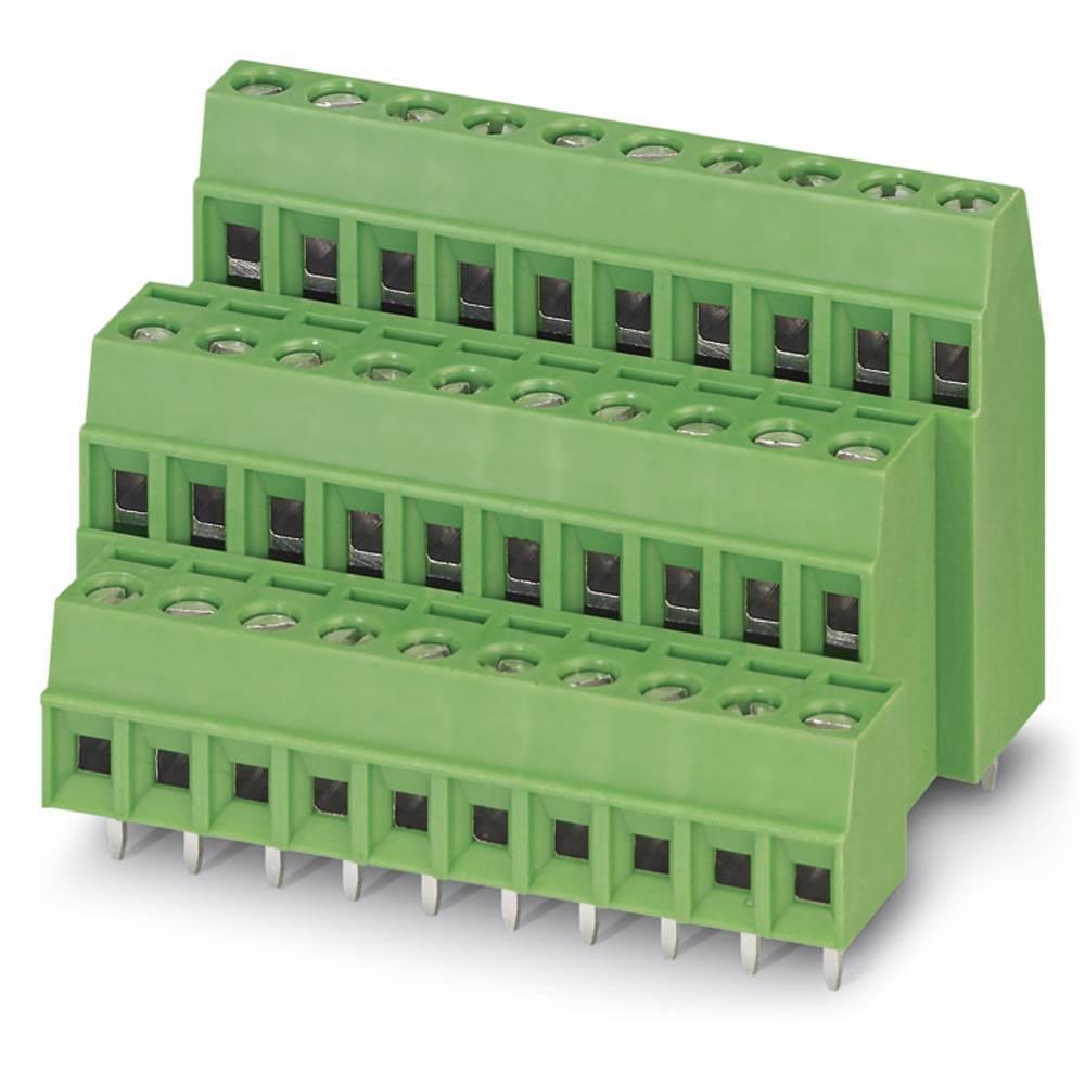 Tre-etagesklemme Phoenix Contact MK3DS 1/ 8-3,81 1.00 mm² Poltal 24 Grøn 50 stk