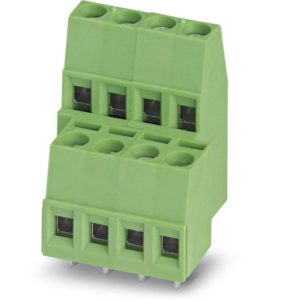 Dobbeltrækkeklemme Phoenix Contact MKKDS 1,5/ 2 1.50 mm² Poltal 4 Grøn 100 stk