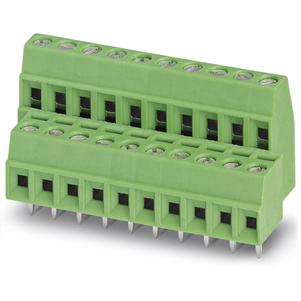 Dobbeltrækkeklemme Phoenix Contact MKKDS 1/ 2-3,81 1.00 mm² Poltal 4 Grøn 50 stk