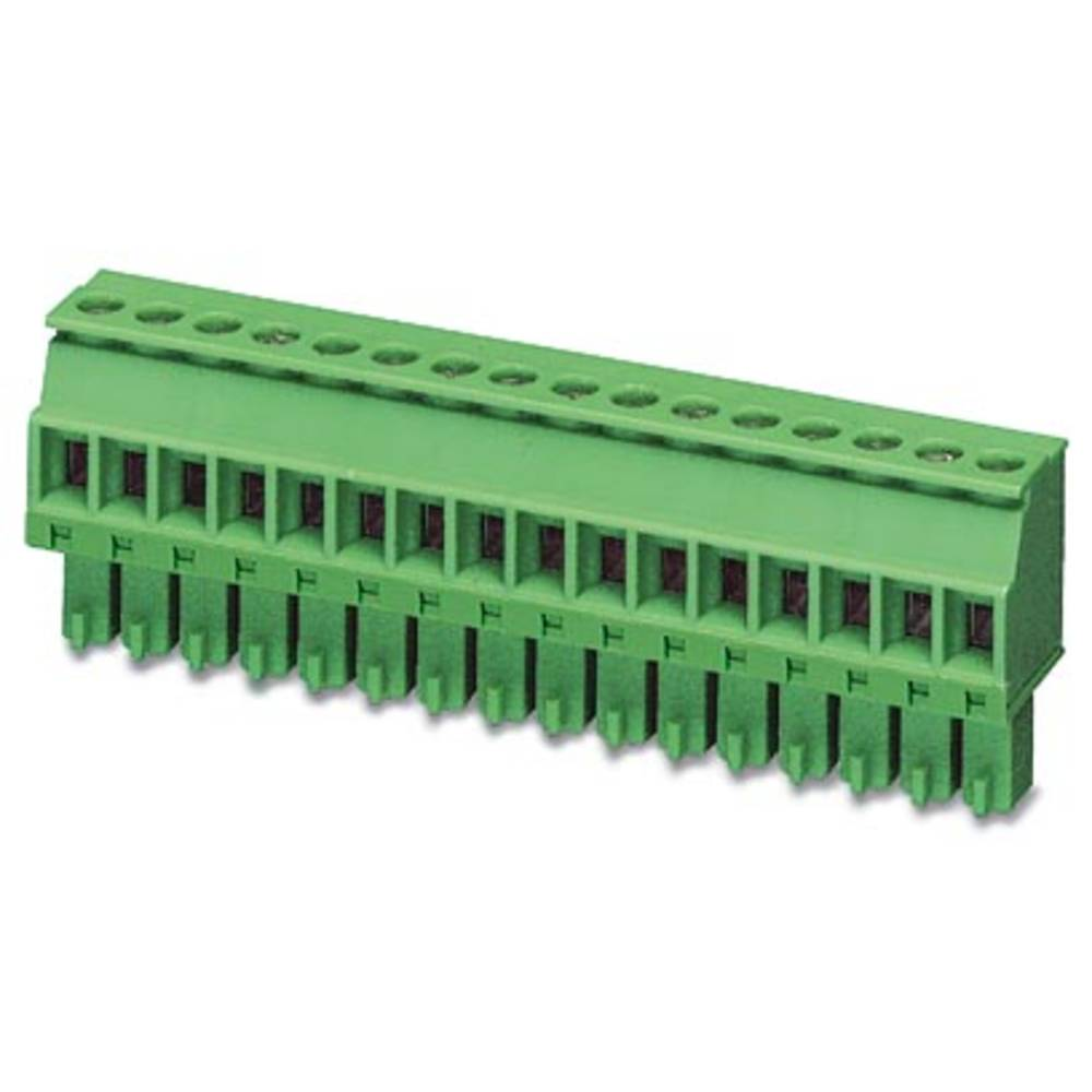 Tilslutningskabinet-kabel MCVR (value.1360762) Samlet antal poler 5 Phoenix Contact 1893203 Rastermål: 3.81 mm 50 stk