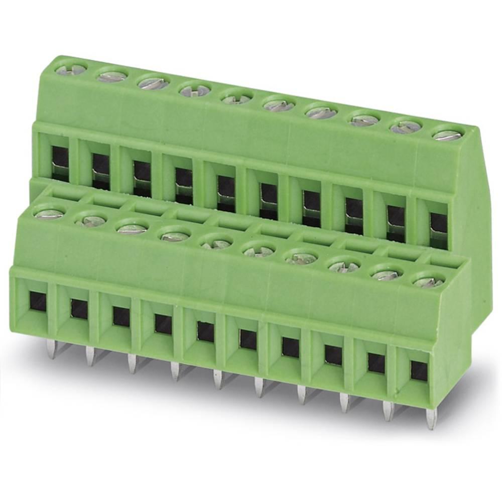 Dobbeltrækkeklemme Phoenix Contact MKKDS 1/10-3,5 1.00 mm² Poltal 20 Grøn 50 stk
