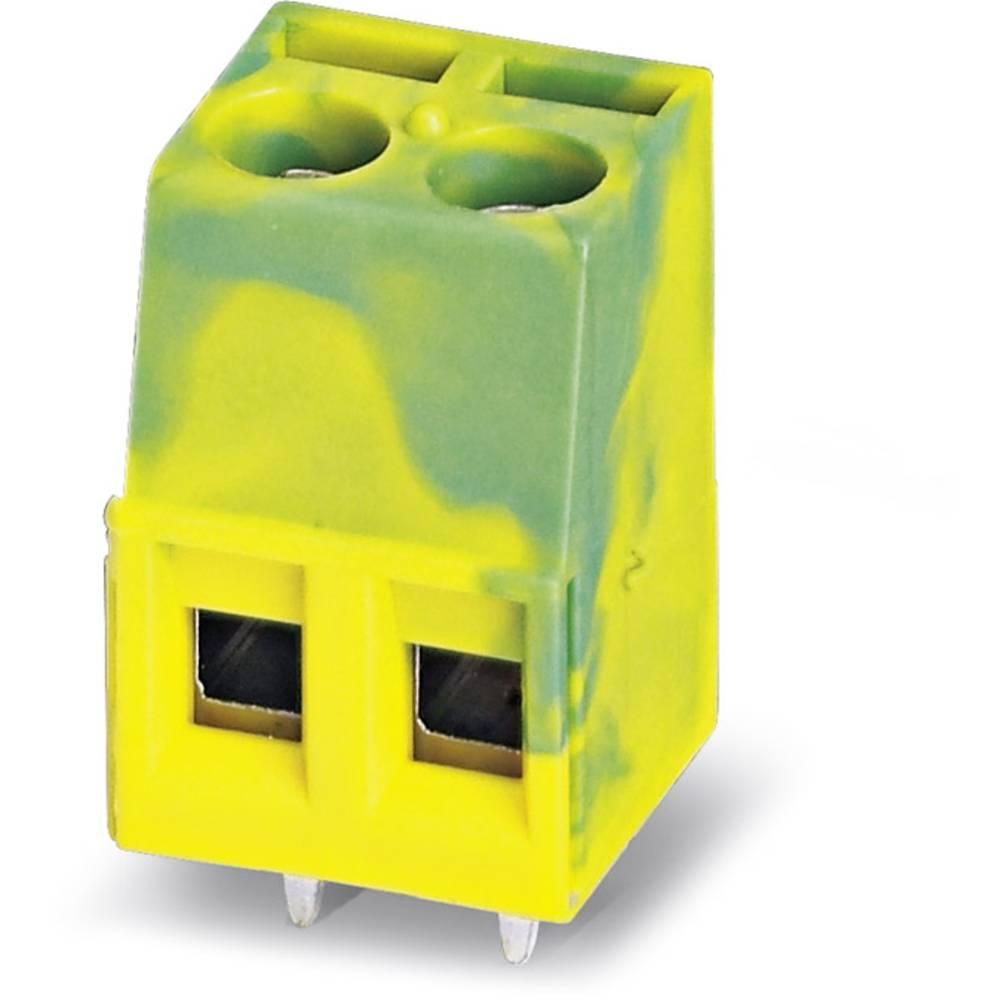 Skrueklemmeblok Phoenix Contact MKDS 1,5/ 2-B-5,08 GNYE 1.50 mm² Poltal 2 Grøn-gul 50 stk