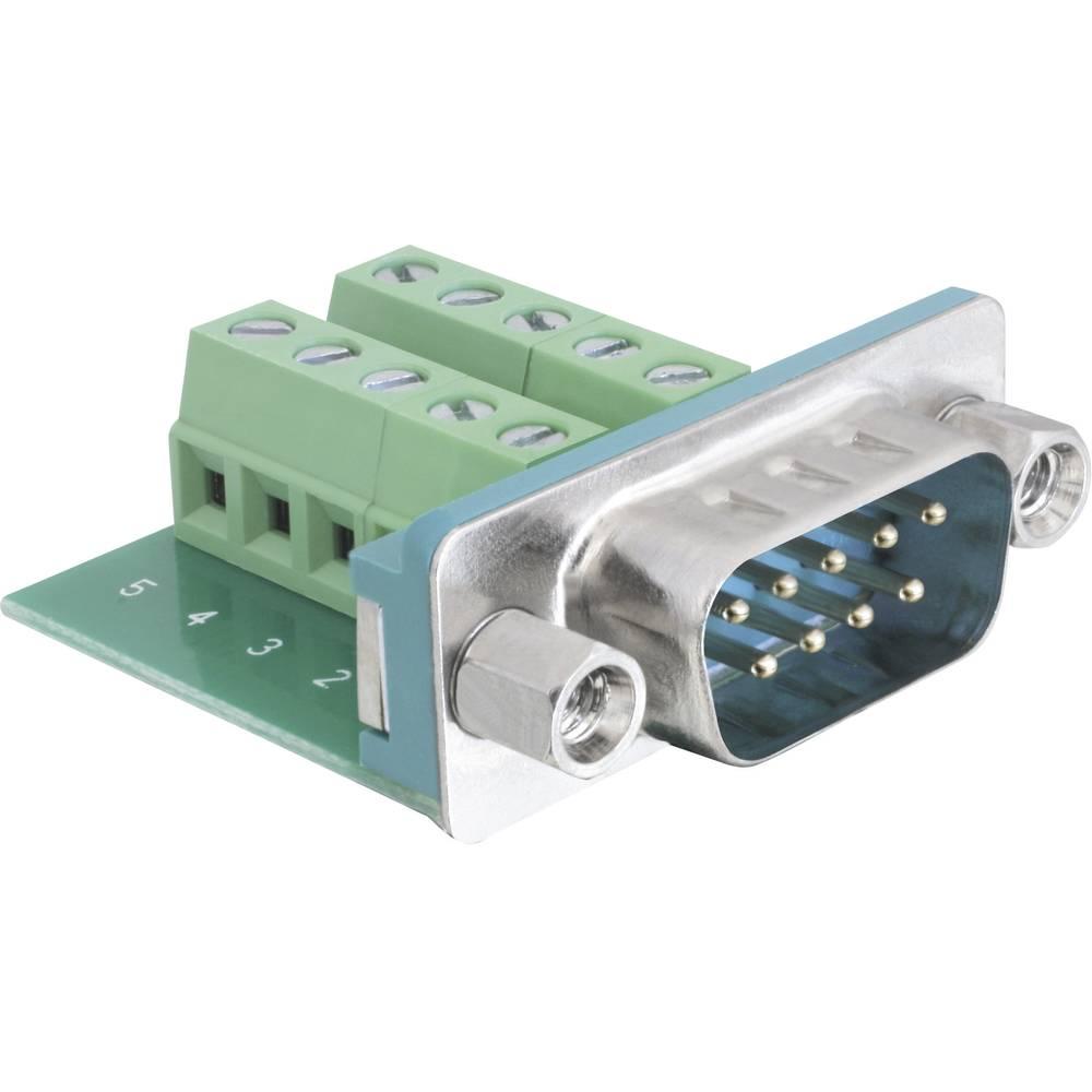 D-SUB kontaktni vložek Delock65269, moški konektor, poli: 9/10