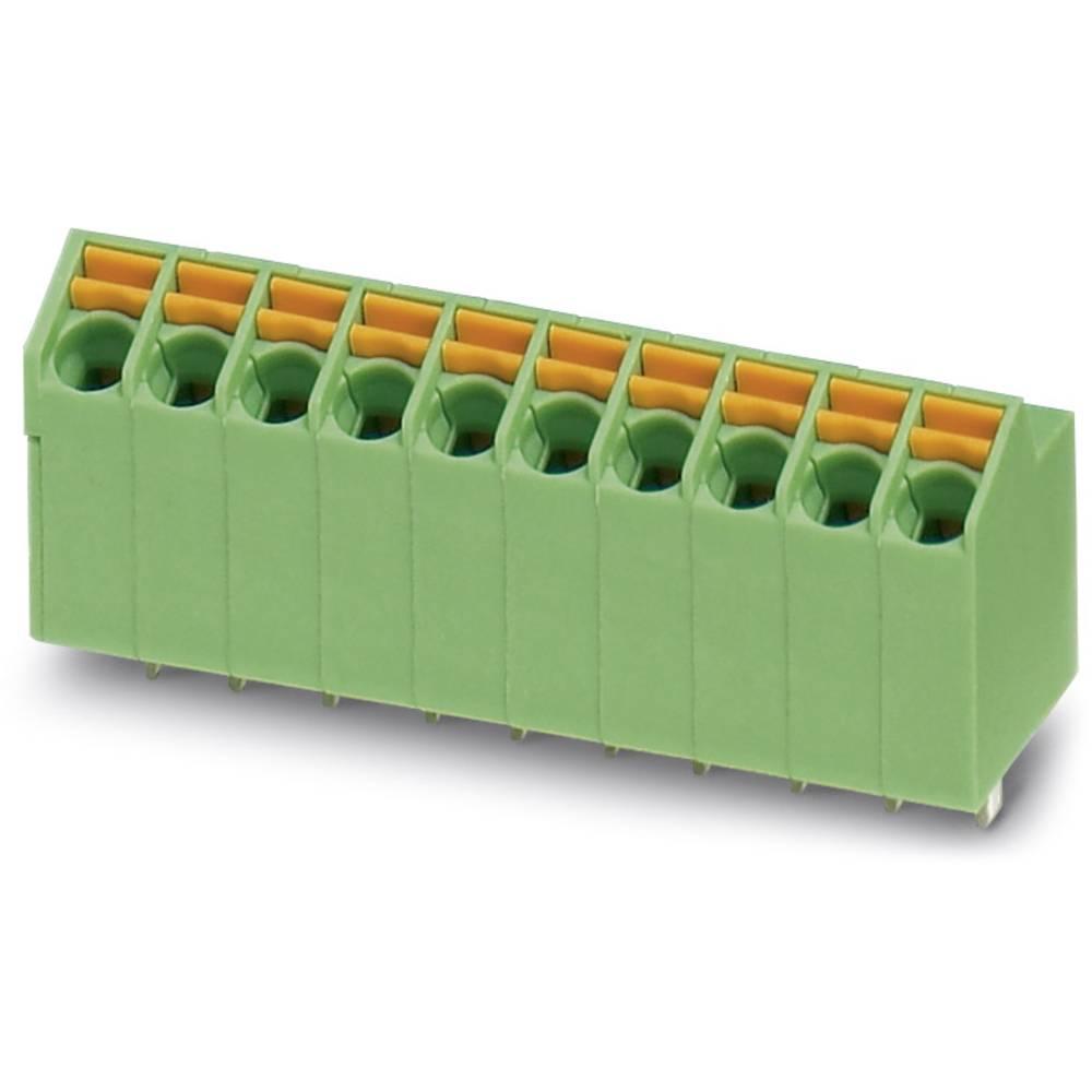 Fjederkraftsklemmeblok Phoenix Contact SPTA 1/ 3-3,5 1.00 mm² Poltal 3 Grøn 100 stk