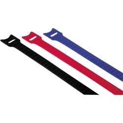 Komplet kablovskih vezica na čičak 00020536 Hama (D x Š) 14.5 cm x 1.2 cm 12 kom. crvena, plava, crna 145mm