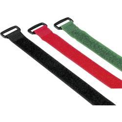 Komplet kablovskih vezica na čičak 00020538 Hama s kopčom (D x Š) 25 cm x 2 cm 9 kom. crvena, zelena, crna 250mm
