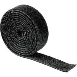 Univerzalna čičak-traka 00020543 Hama (D x Š) 1000 mm x 19 mm, crna, 1 kom.