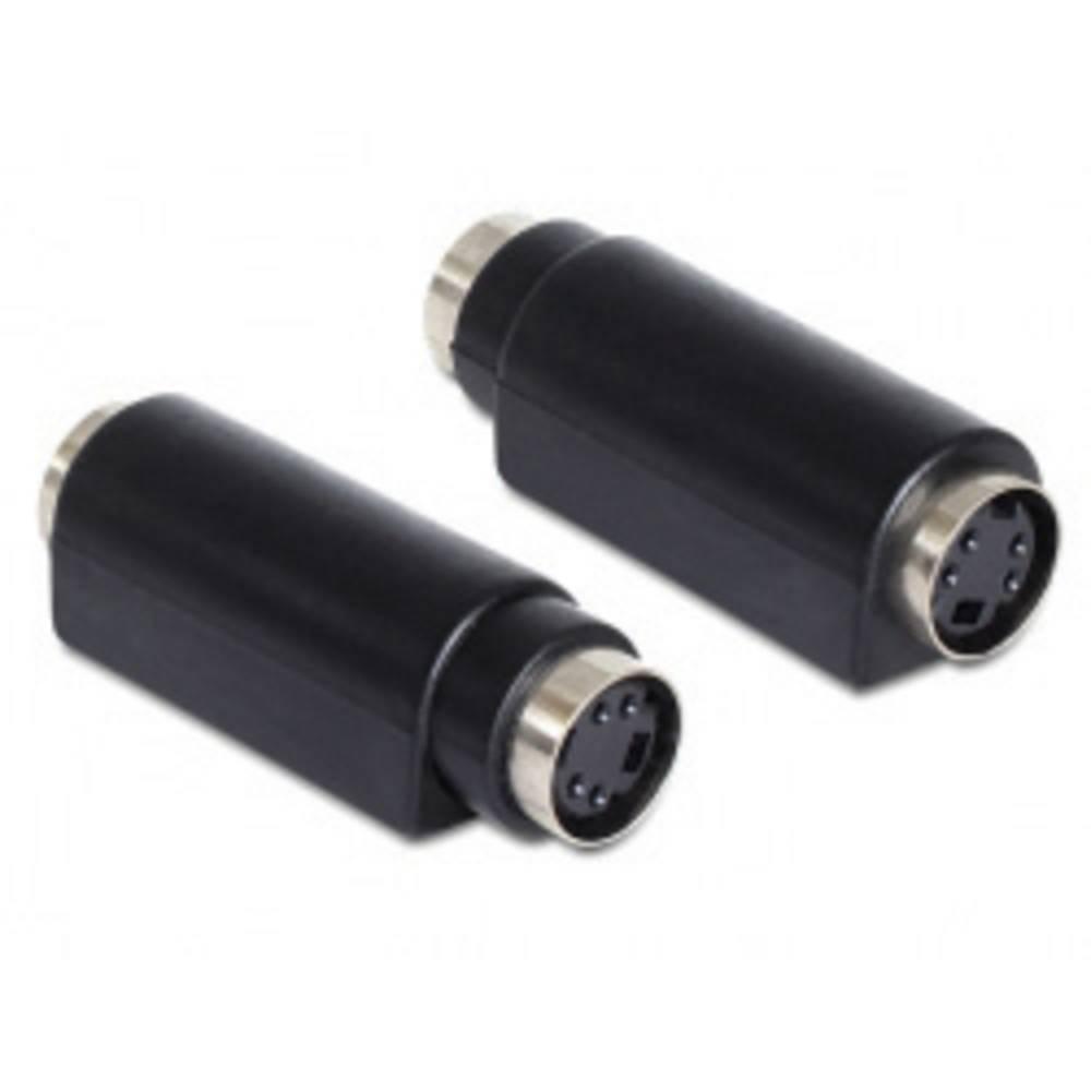 Delock-S-Video audio adapter [1x Mini-DIN konektor, ženski - 1x Mini-DIN konektor ženski], črn 65489