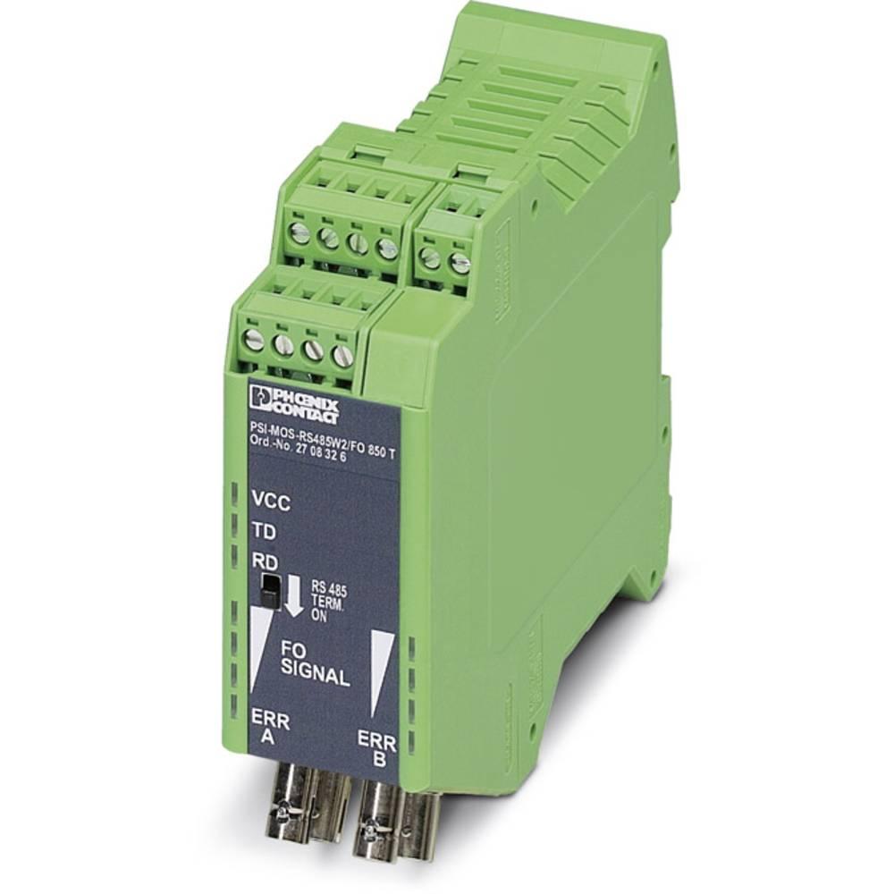 Pretvornik za optiko Phoenix Contact PSI-MOS RS485W2 / FO 850 T Pretvornik za optiko