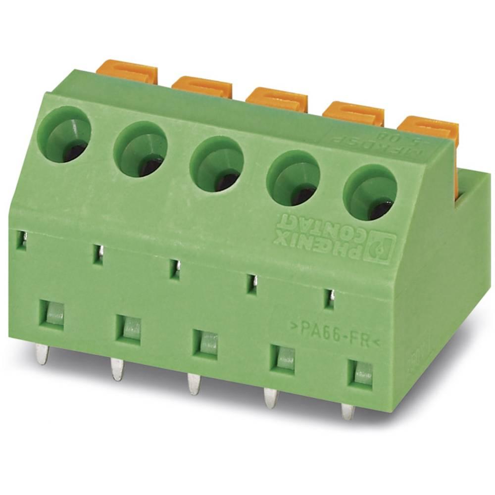 Fjederkraftsklemmeblok Phoenix Contact MFKDSP/ 4-5,08 1.00 mm² Poltal 4 Grøn 50 stk