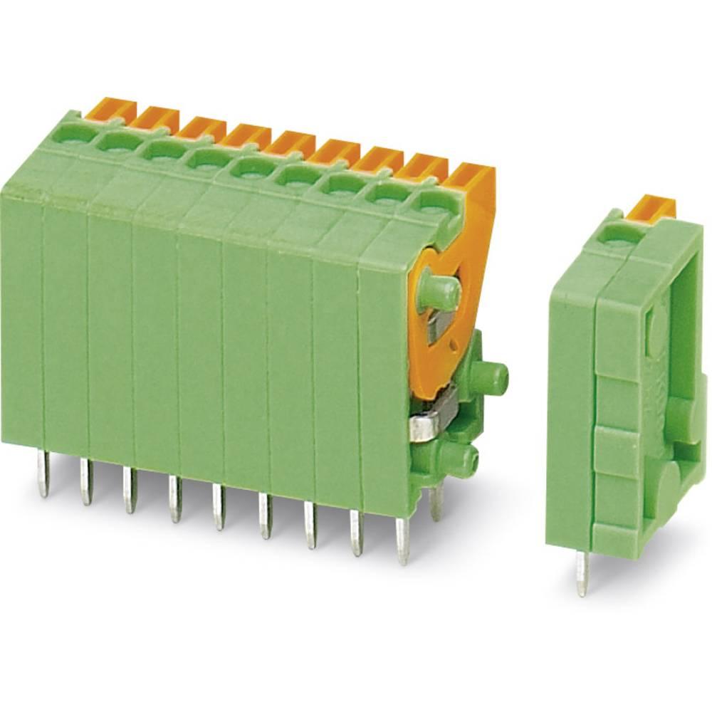 Fjederkraftsklemmeblok Phoenix Contact FFKDSA1/V-2,54- 2 0.50 mm² Poltal 2 Grøn 50 stk