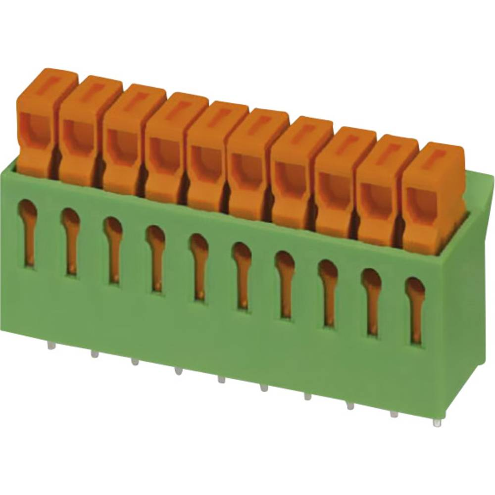 Grundkabinet Phoenix Contact IDC 0,3/ 2-3,81 LC RD/BK 0.34 mm² Poltal 2 Grøn 50 stk