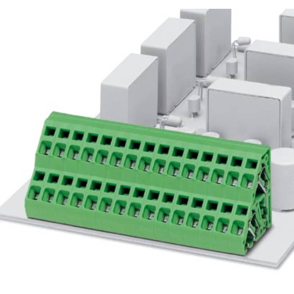 Dobbeltrækkeklemme Phoenix Contact ZFKKDS 2,5-5,08 2.50 mm² Poltal 2 Grøn 50 stk
