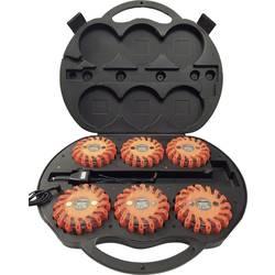 Havariblink 16 LED'er 2420004 6 stk. opladningskuffert 12 V, 24 V, 230 V Batteridrevet Magnet-montering Orange Profi Power