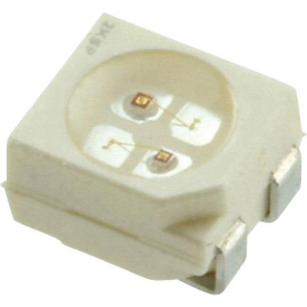SMD LED Dialight 597-7761 -202F PLCC4 2.5 mcd 120 ° Grøn, Orange