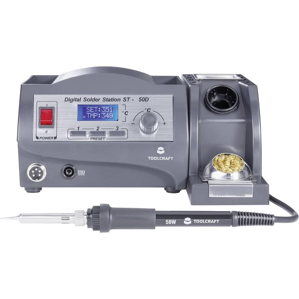Digitalna stanica za lemljenje 50 W TOOLCRAFT ST-50D +150 do +450 °C