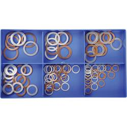 Komplet tesnilnih obročev, DIN 7603, od 8x14 do 18x24mm, baker/aluminij, 100 kosov