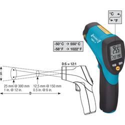 Infrardeči termometer Hazet optika 12:1 -50 do +550 °C kalibracija narejena po: ISO