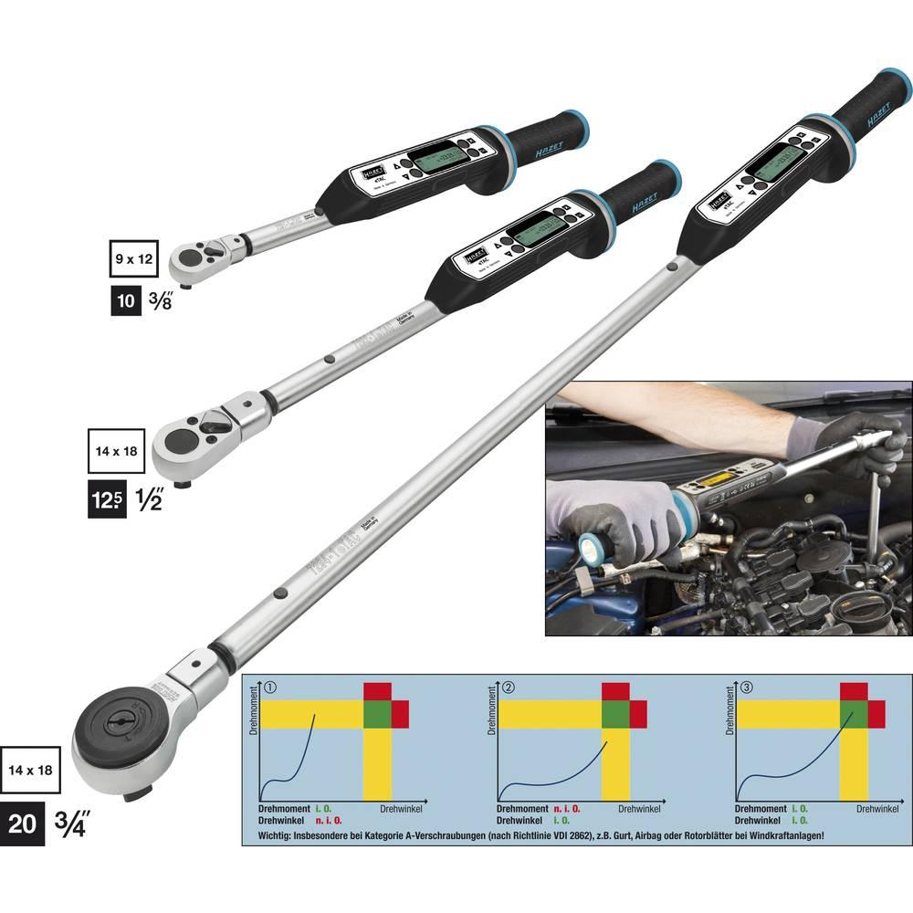 Ključ za elektronski navor / kot - SISTEM 7000 ETAC - osnovna različica, vtična-in kvadratna 14 x 18 mm, Nm m